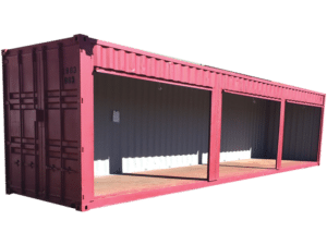 40 foot container 3 roll up doors