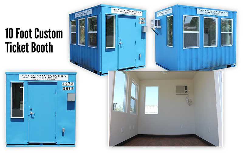 10 foot ticket booth container