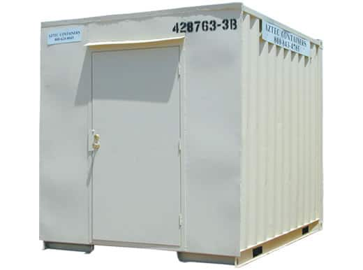 10 FT. SHIPPING AND STORAGE CONTAINERS WITH WALK IN DOORS  sc 1 st  Aztec Container & 10 FT storage shipping cargo containers with walk-in doors