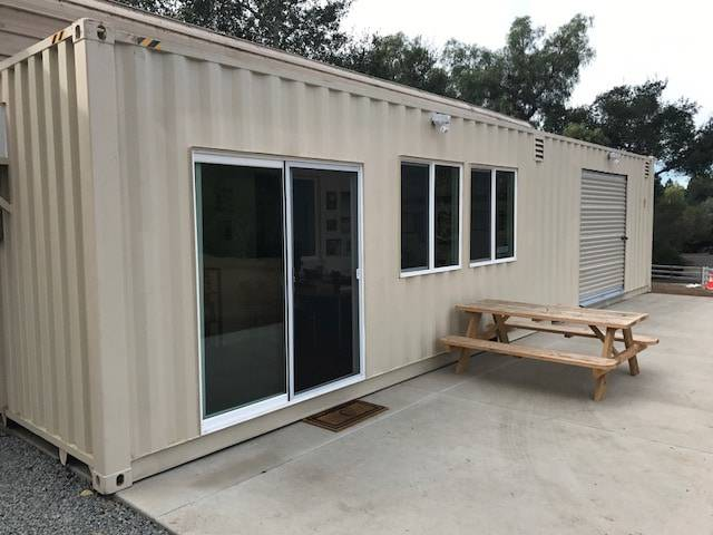 shipping container exterior