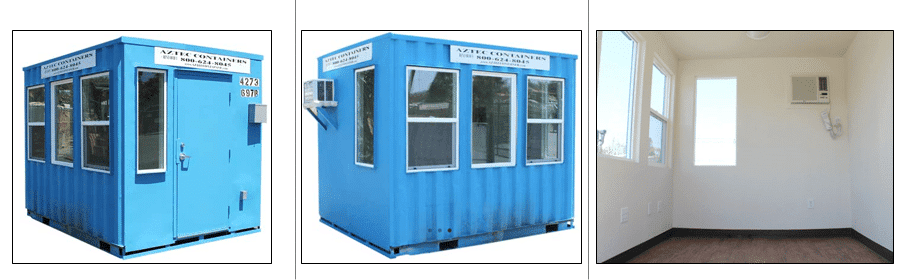 ticket booth and guard shacks from shipping containers