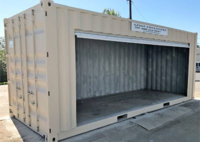 Shipping Container with Large Roll Up Door