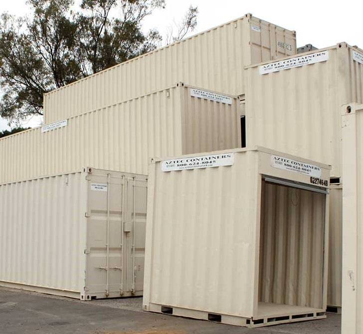 shipping containers all sized